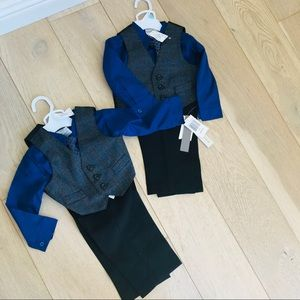 Twin boy matching suits 6-9m